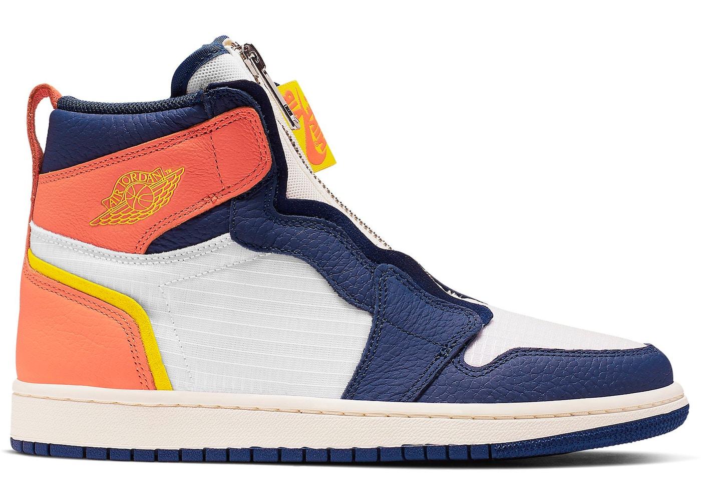 Jordan 1 Retro High Zip Blue Void Turf Orange (W)