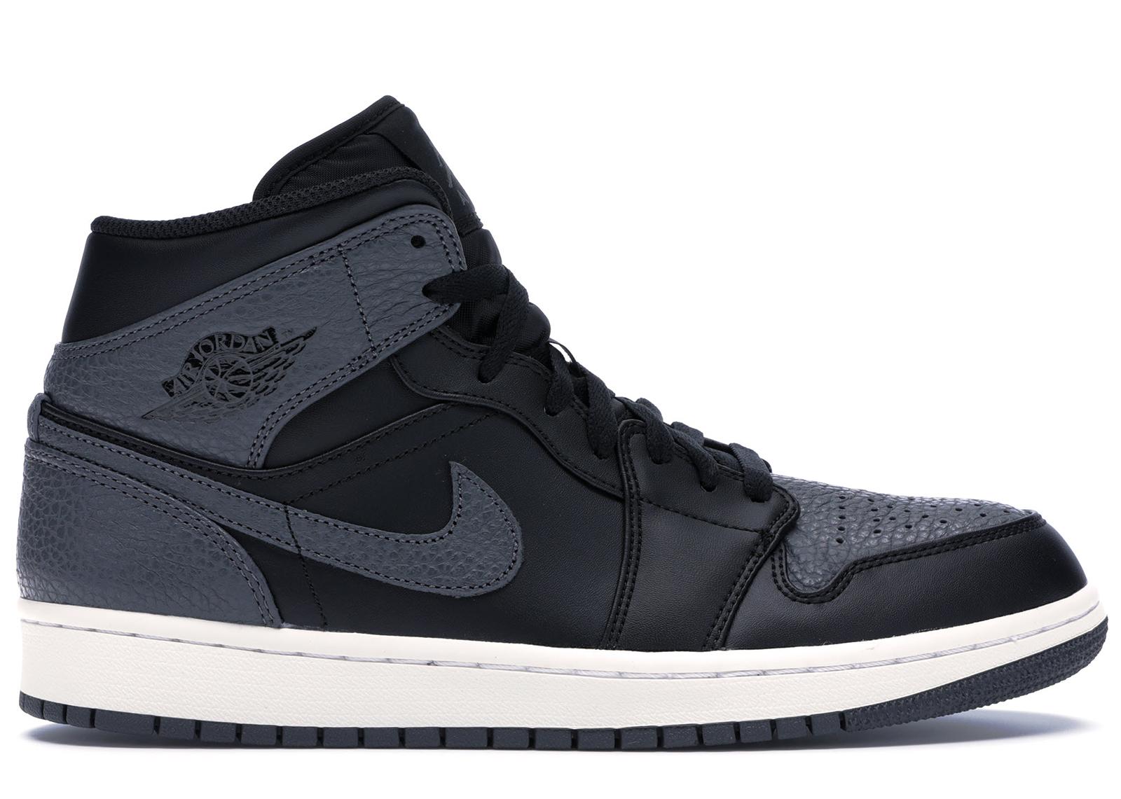 Jordan 1 Retro Mid Black Dark Grey