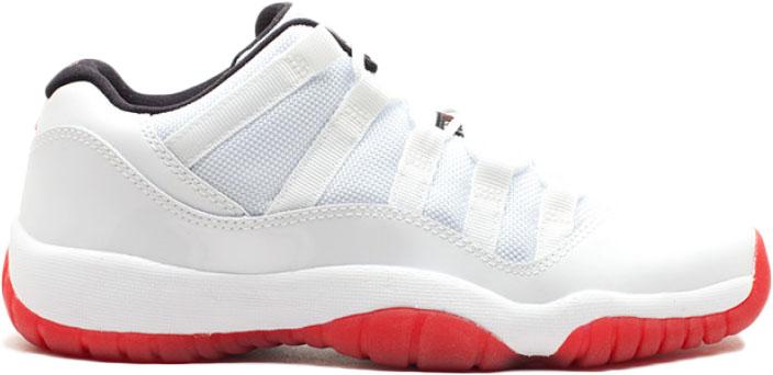 Jordan 11 Retro Low White Varsity Red (GS)