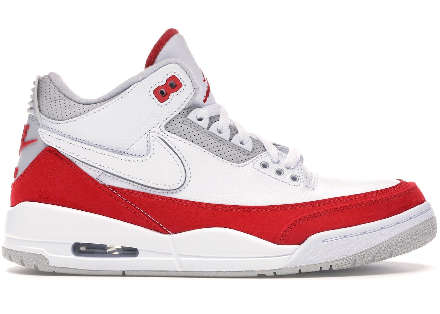 Zapatos equivocado contar  Jordan 3 Retro Tinker White University Red - CJ0939-100