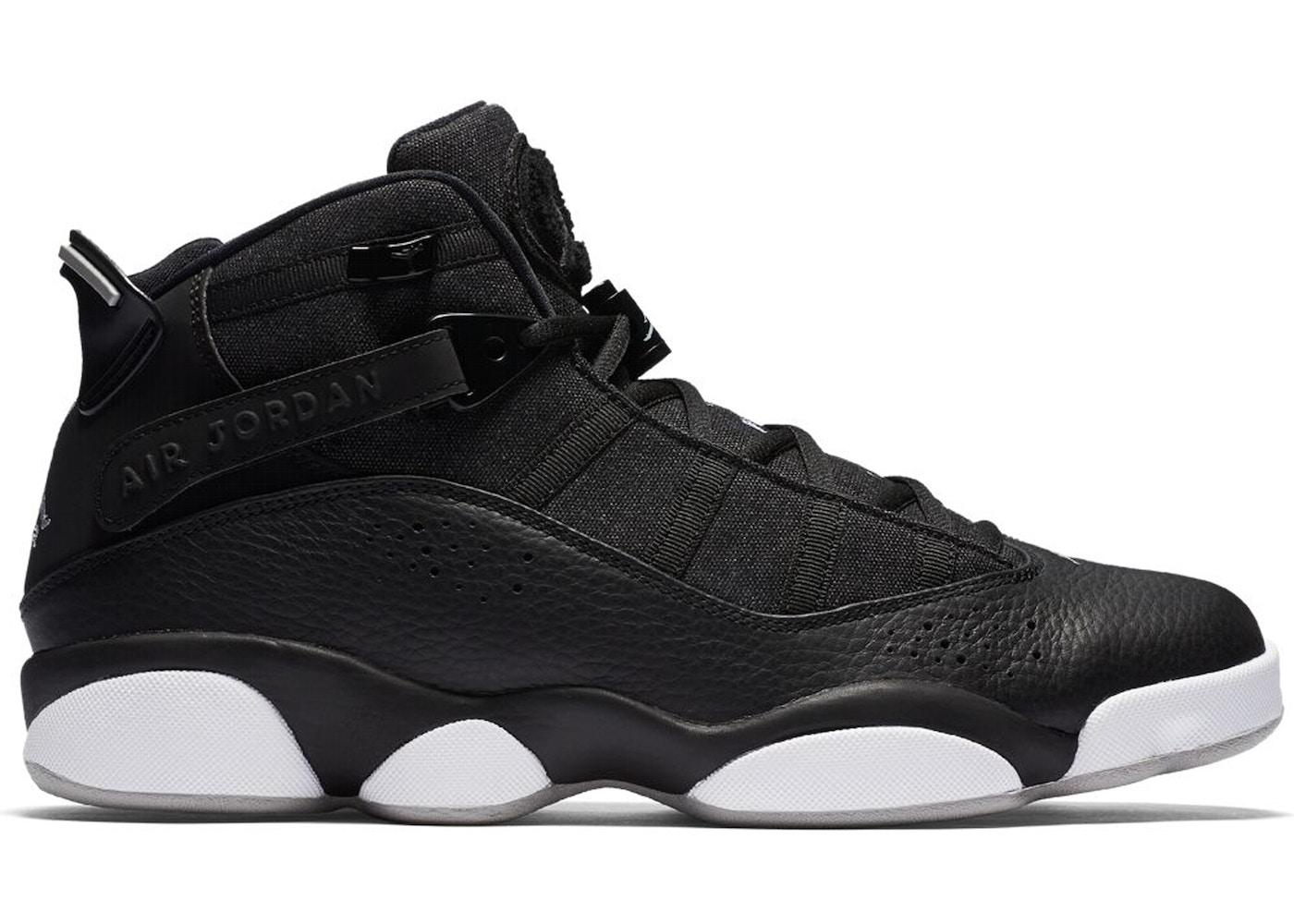 Jordan 6 Rings Black Matte Silver