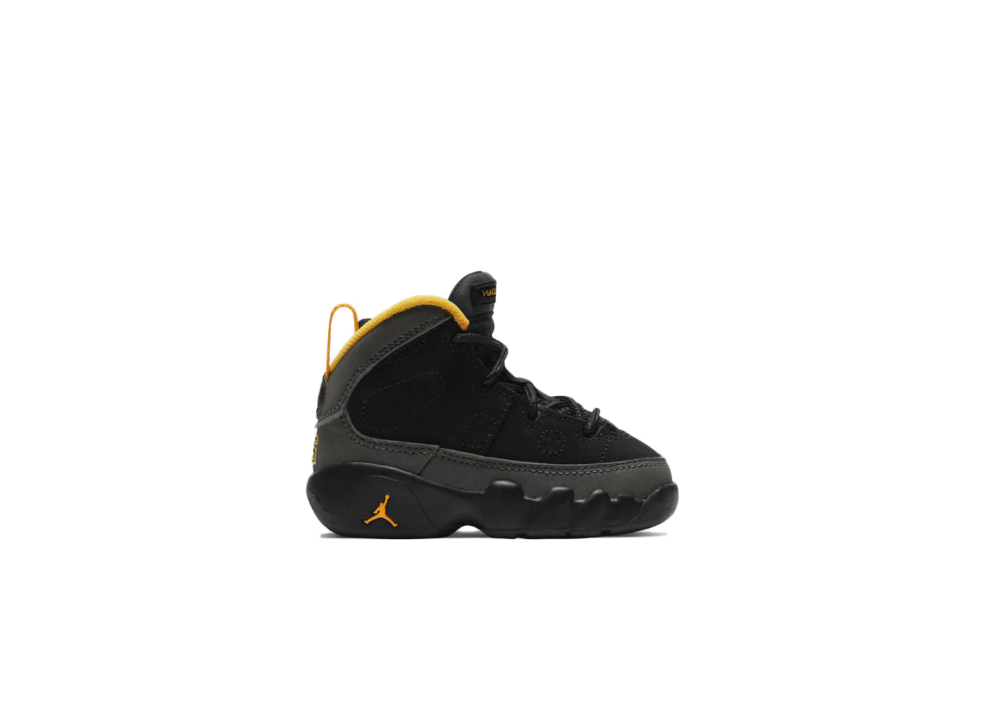 Jordan 9 Retro Dark Charcoal University Gold (TD)