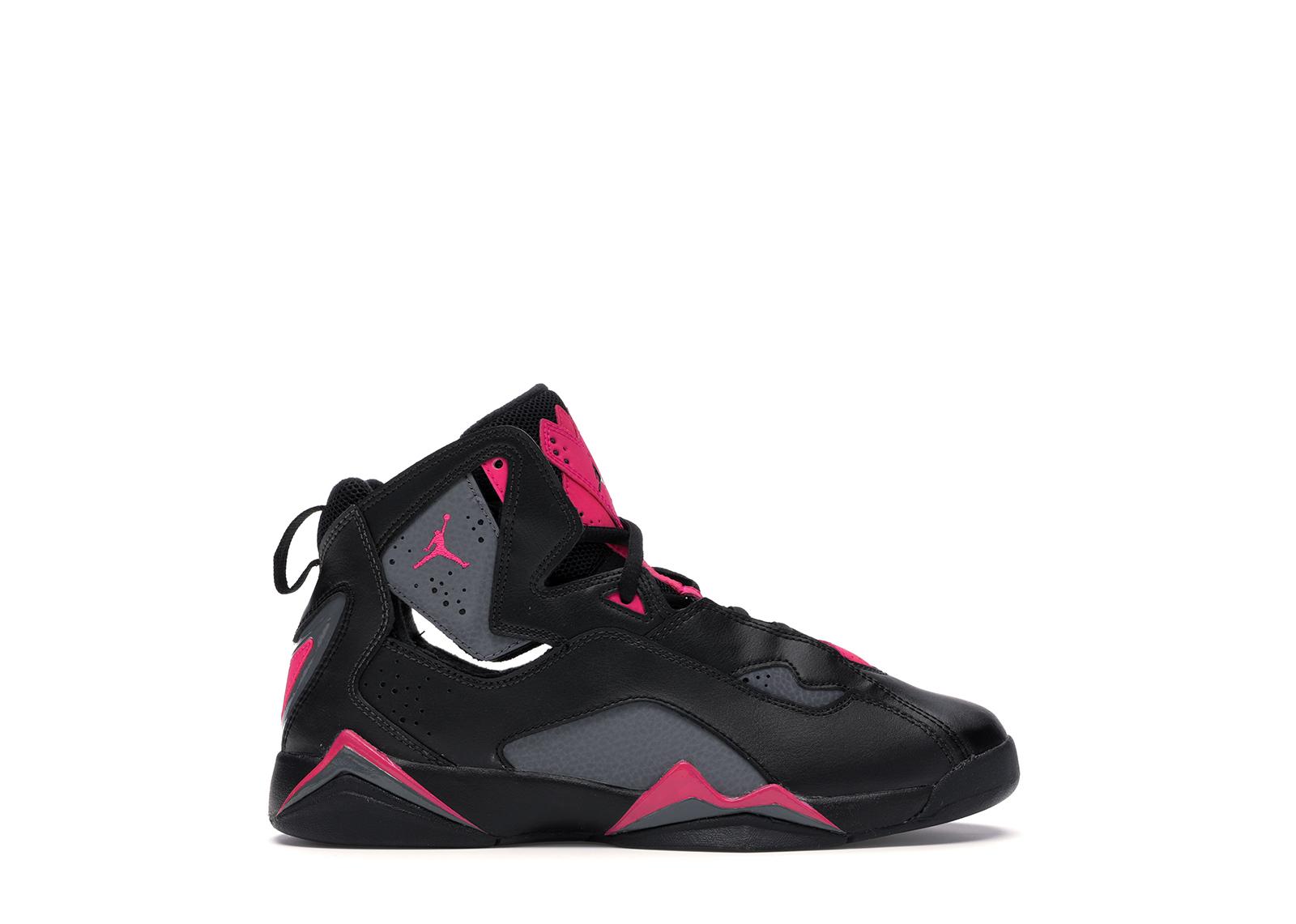 Jordan True Flight Black Dark Grey Deadly Pink (GS)