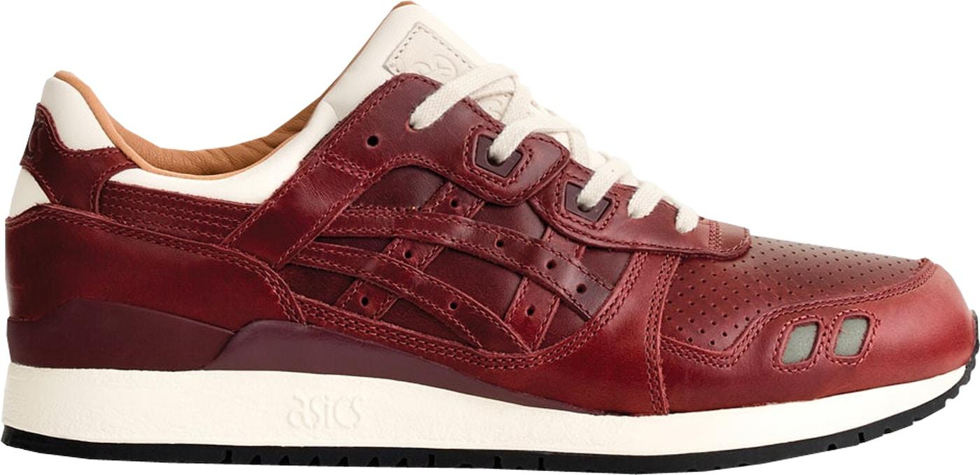 ASICS Gel-Lyte III Packer Shoes x J. Crew Oxblood Leather