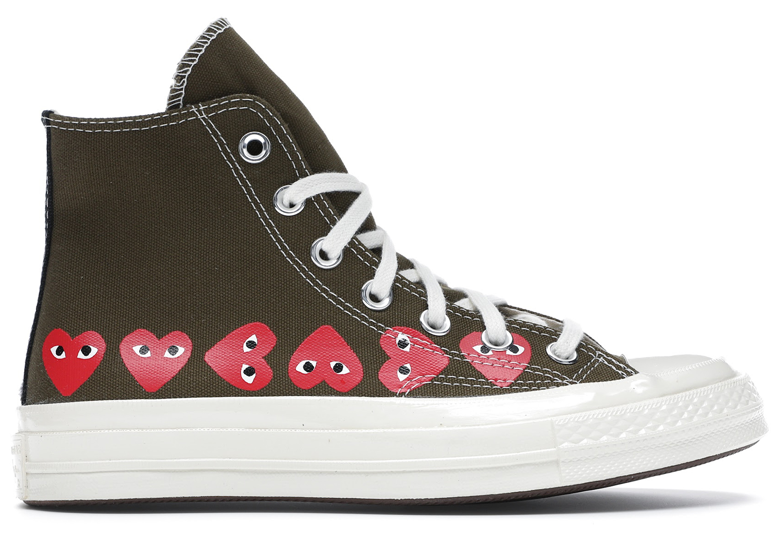 Converse Chuck Taylor All-Star 70s Hi Comme des Garcons Play Multi-Heart Green