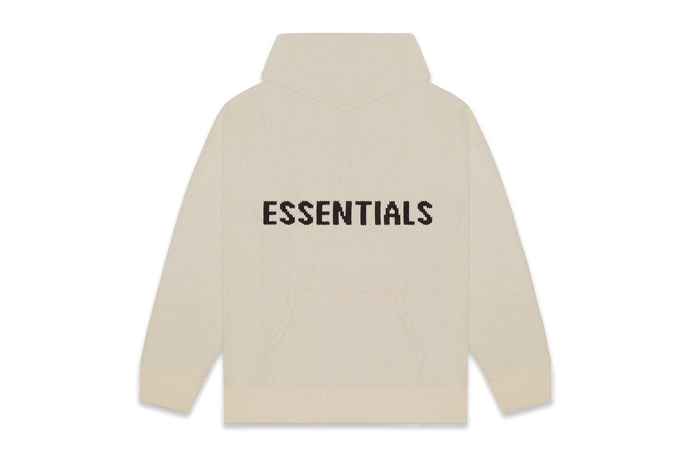 Fear Of God FOG Essentials Khaki// Cement Hoodie Sweatshirt Sweater Size M Medium