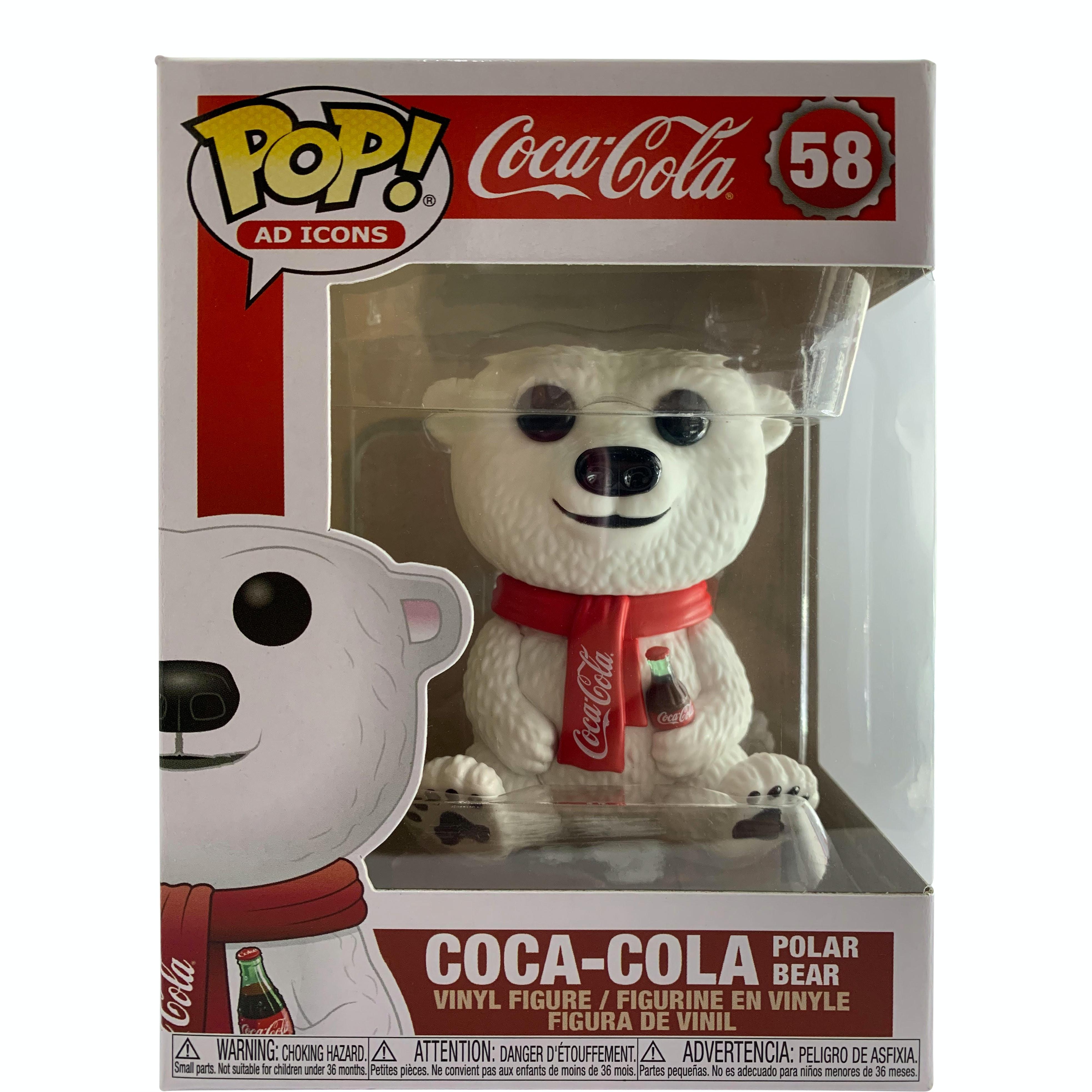 Funko Pop Ad Icons Coca Cola Polar Bear #58 Vinyl Figure with Protector case