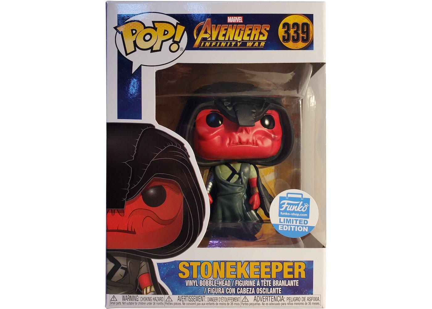 Funko Pop Marvel Avengers Infinity War Stonekeeper Funko Shop Exclusive Figure 339