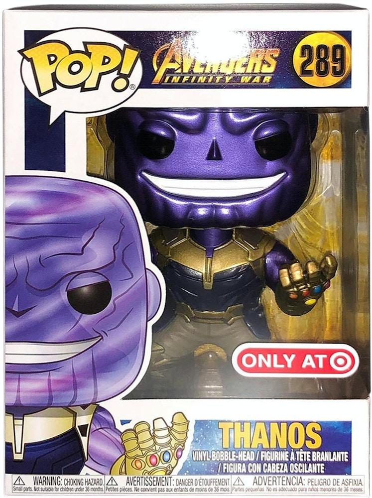Funko Pop Marvel Avengers Infinity War Thanos Target Exclusive Bobble Head Figure 289