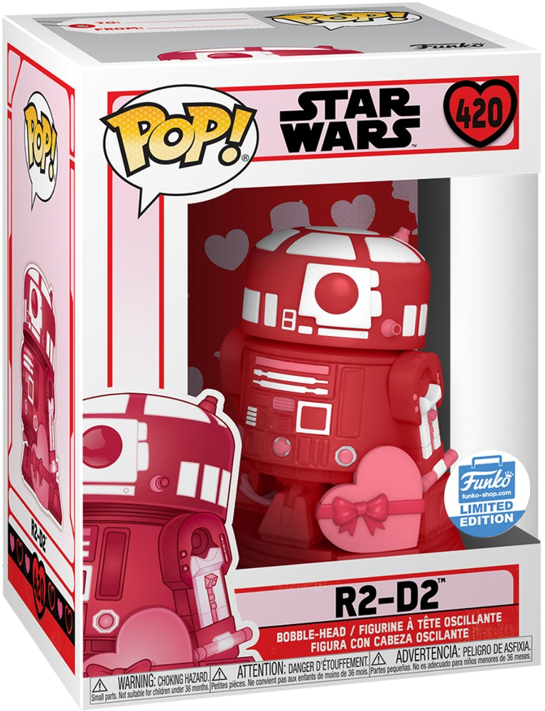 Funko Pop Star Wars R2 D2 Valentine S Day Funko Shop Exclusive Figure 420