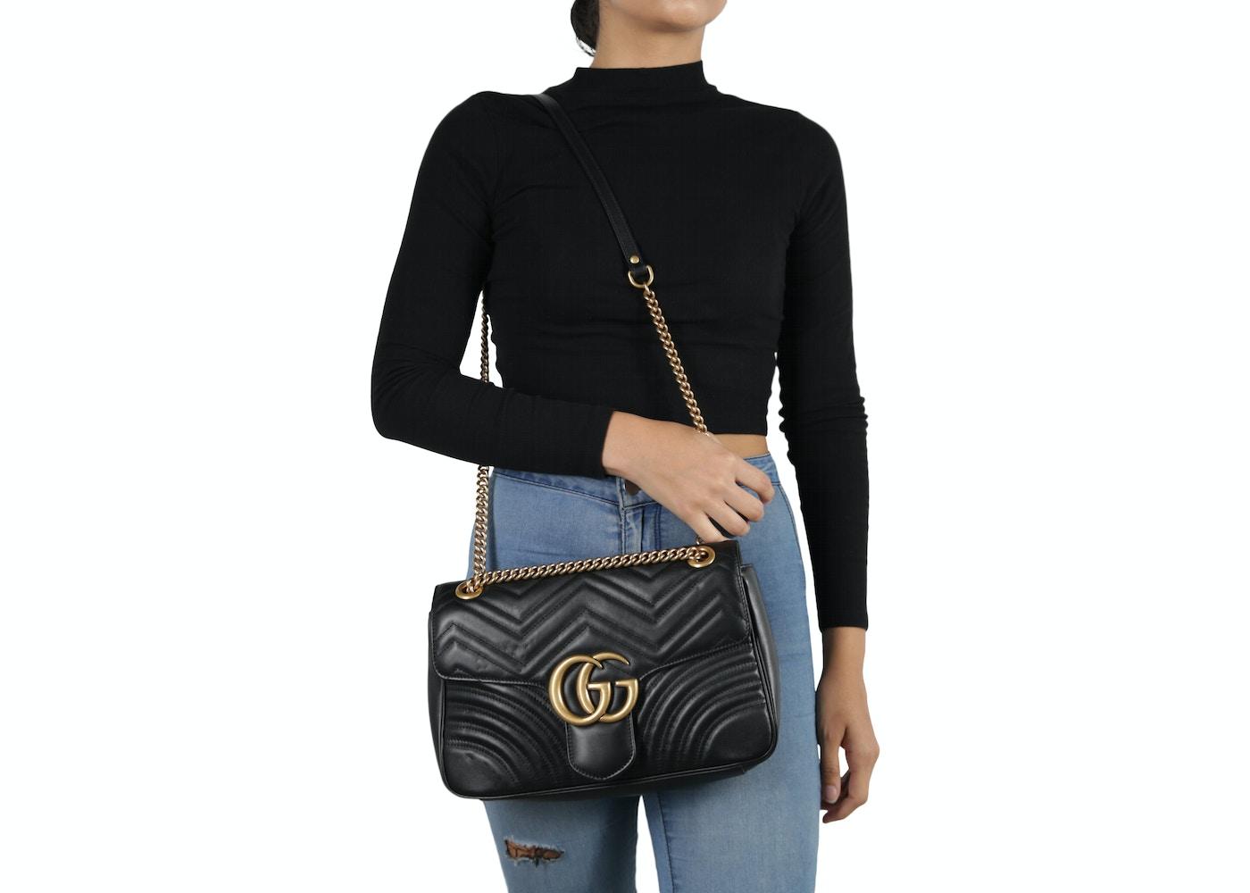 Lyst - Gucci Gg Marmont Matelassé Small Shoulder Bag In