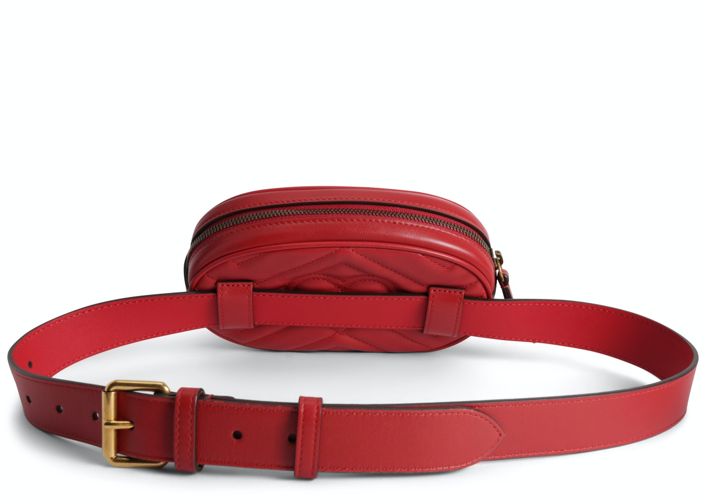 Gucci GG Marmont Belt Bag Matelasse Hibiscus Red