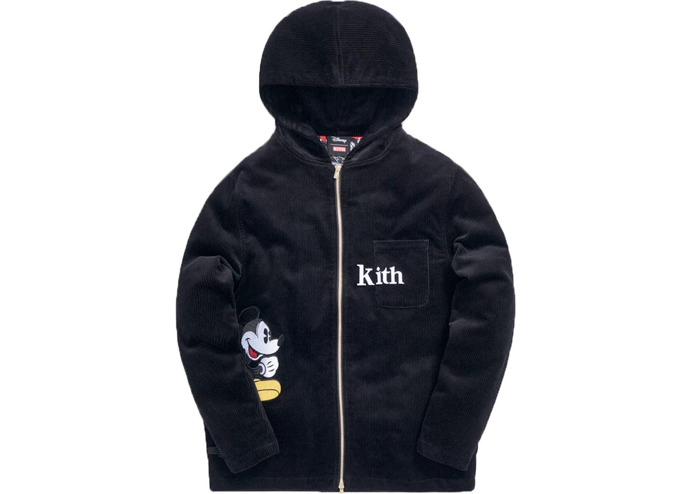 Kith x Disney Carlton Corduroy Zip Hoodie Black