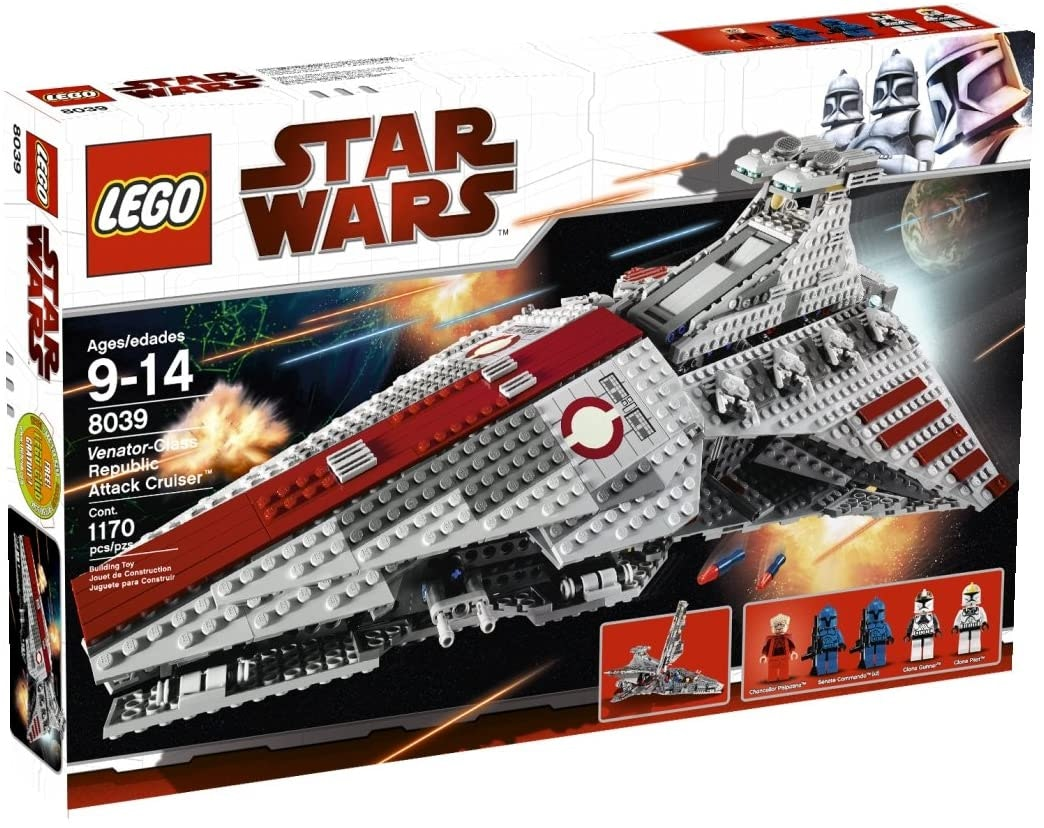 Star Wars Ventar-class Republic Attack Cruiser Equivalent 8039 Neuf Complet