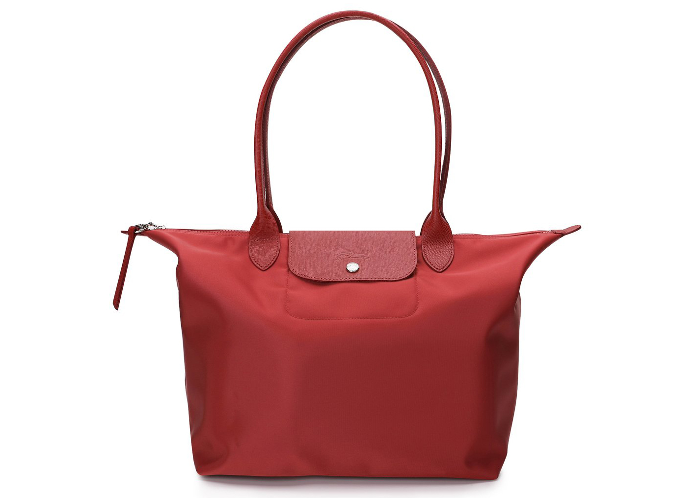 Longchamp Le Pliage Neo Tote Bag L Red in Leather/Polyamide with ...