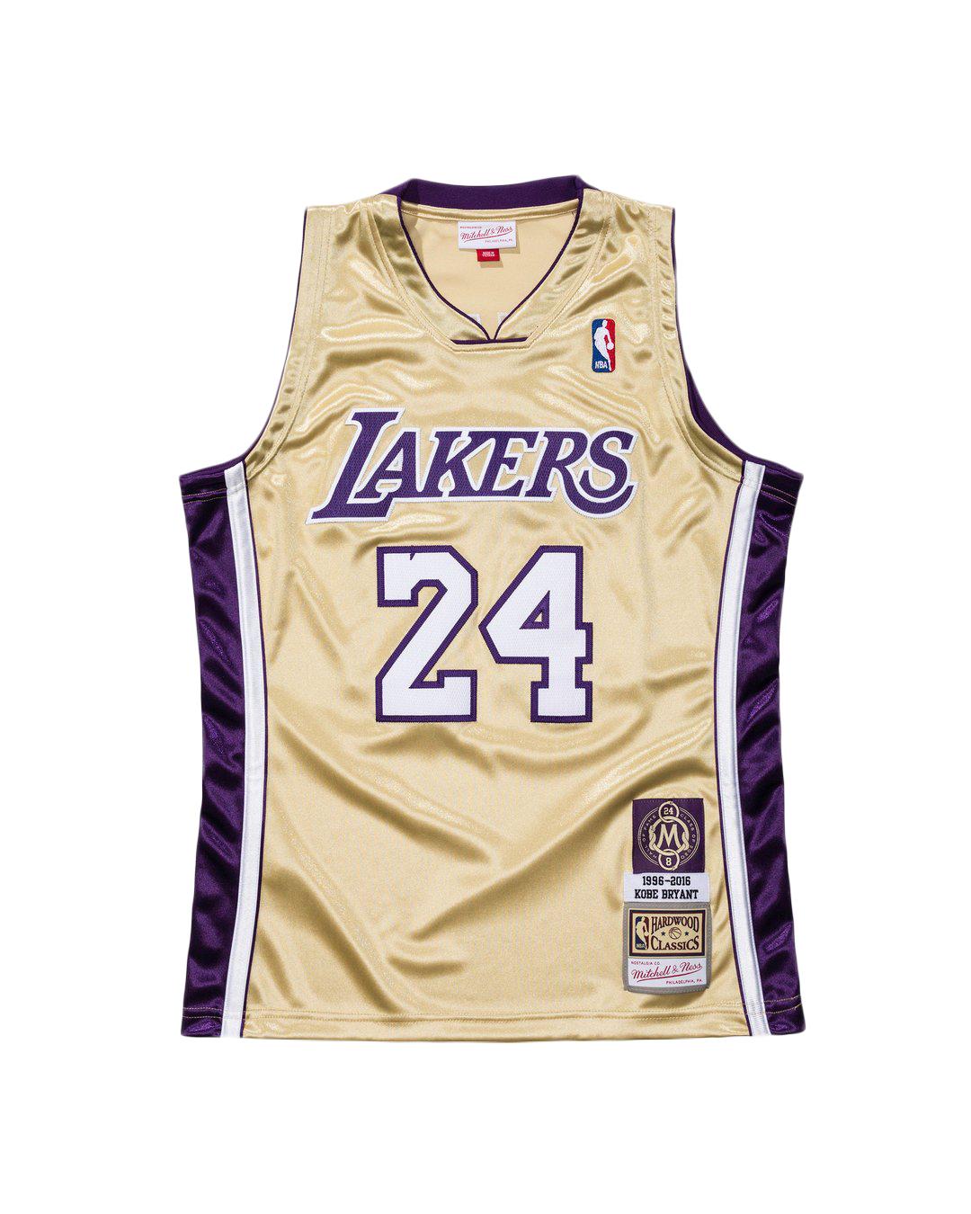 Mitchell & Ness Kobe Bryant HOF NBA Authentic Jersey Gold