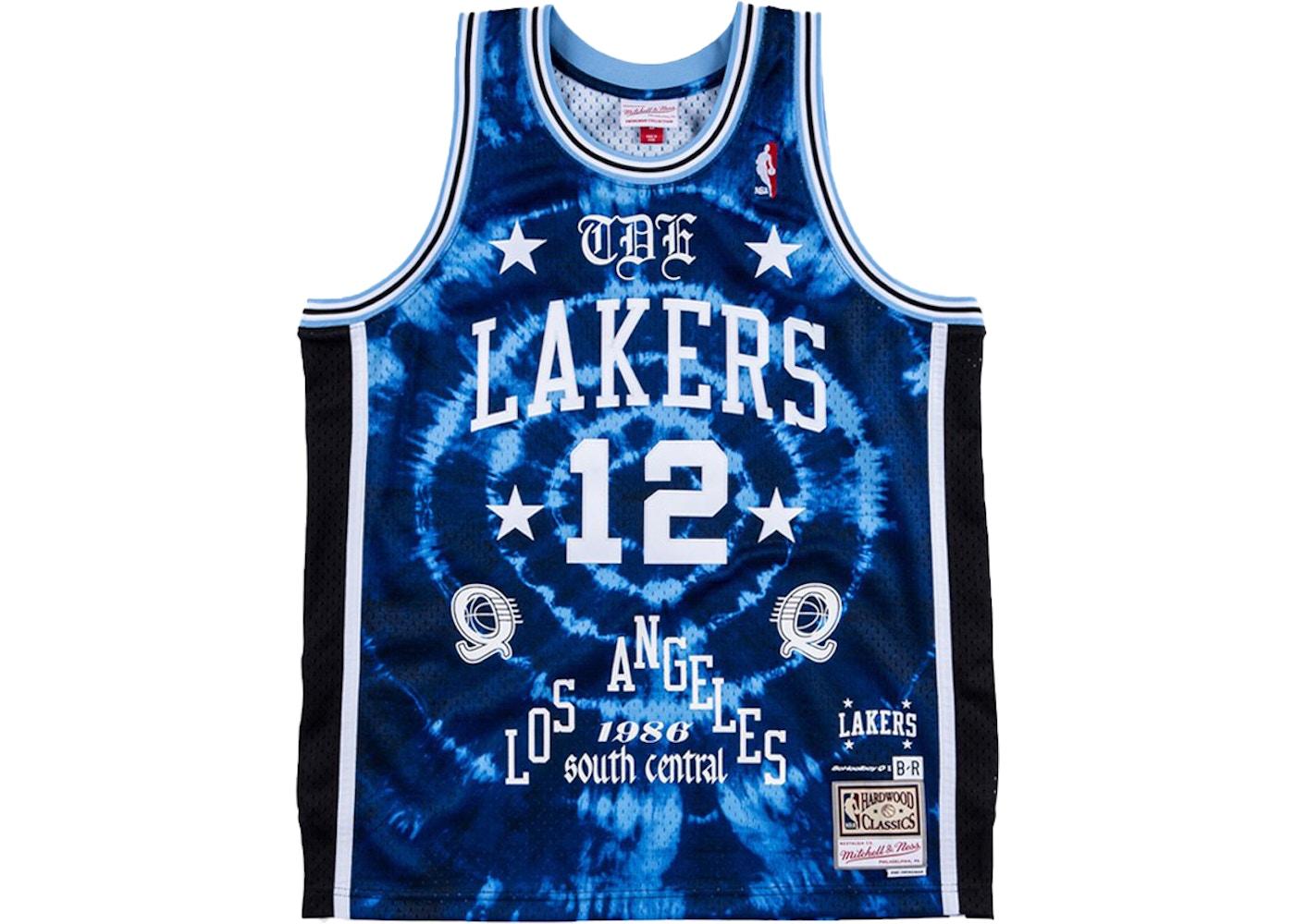Mitchell & Ness x Schoolboy Q X Los Angeles Lakers Swingman Jersey Blue Tie Dye