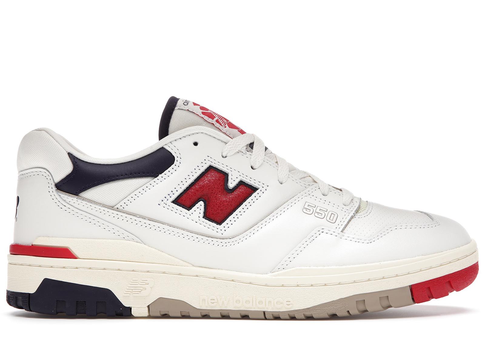 New Balance 550 Aime Leon Dore White Navy Red