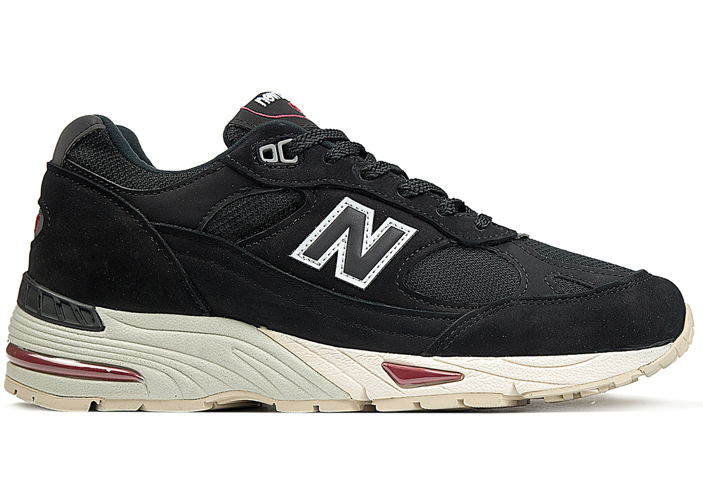 New Balance 991 Made in England Black Red - Sneakers