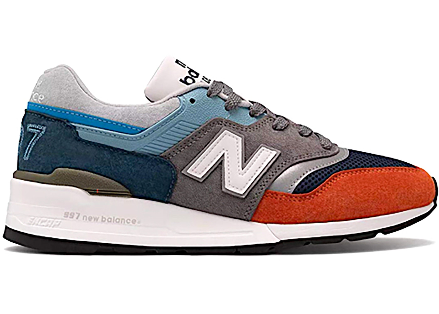New Balance 997 Oversized Blue Orange