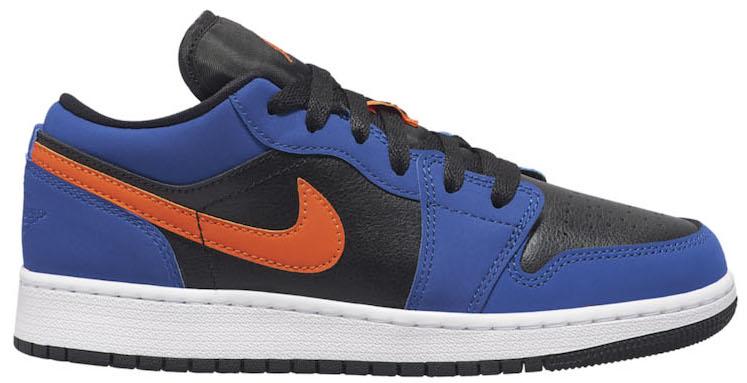 Air Jordan 1 Low Black Blue Orange (GS)