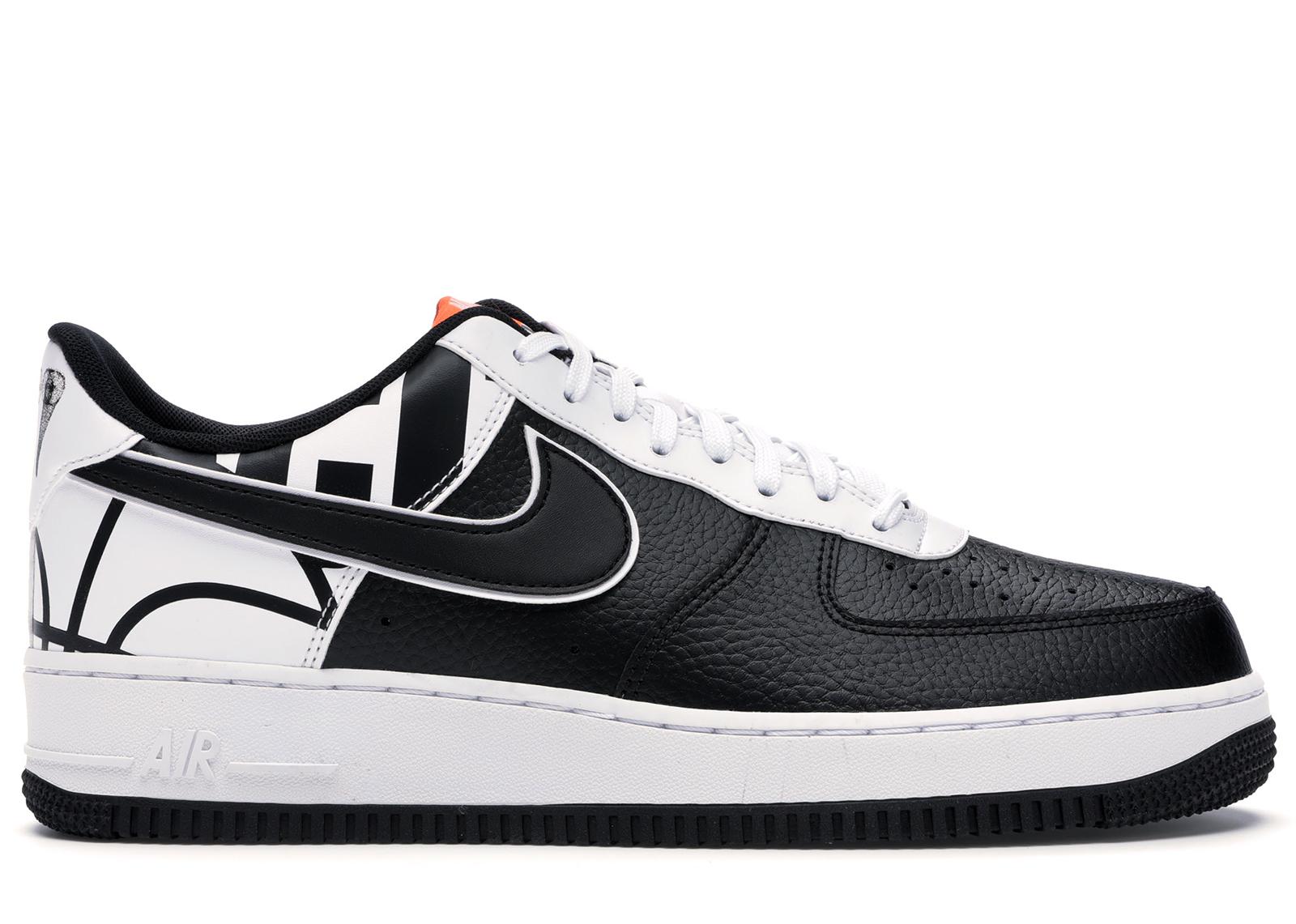 Nike Air Force 1 07 LV8 Black Black-White - 823511-011