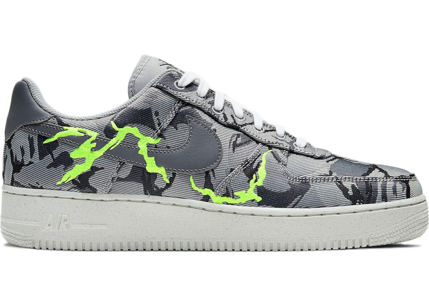 Nike Air Force 1 07 LX Light Smoke Grey Camo Embroidery