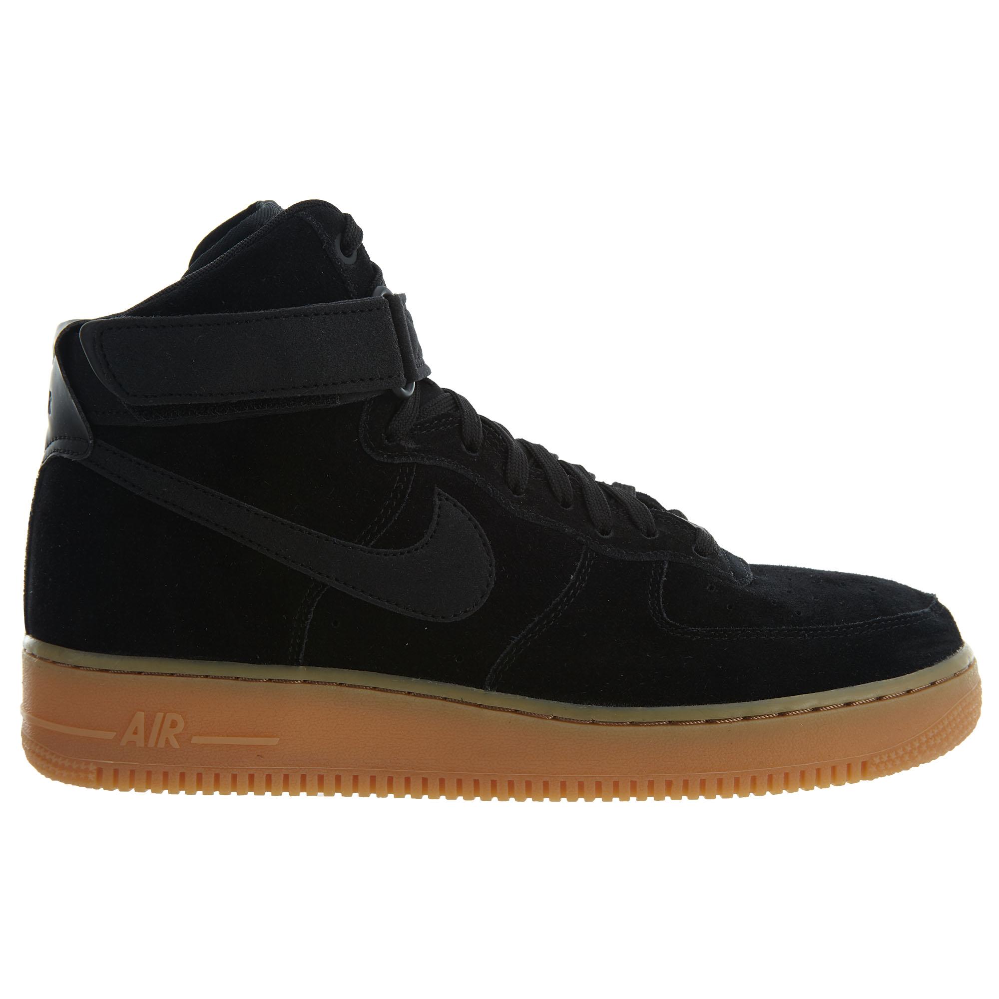 Nike Air Force 1 High 07 Lv8 Suede Black/Black-Gum Med Brown