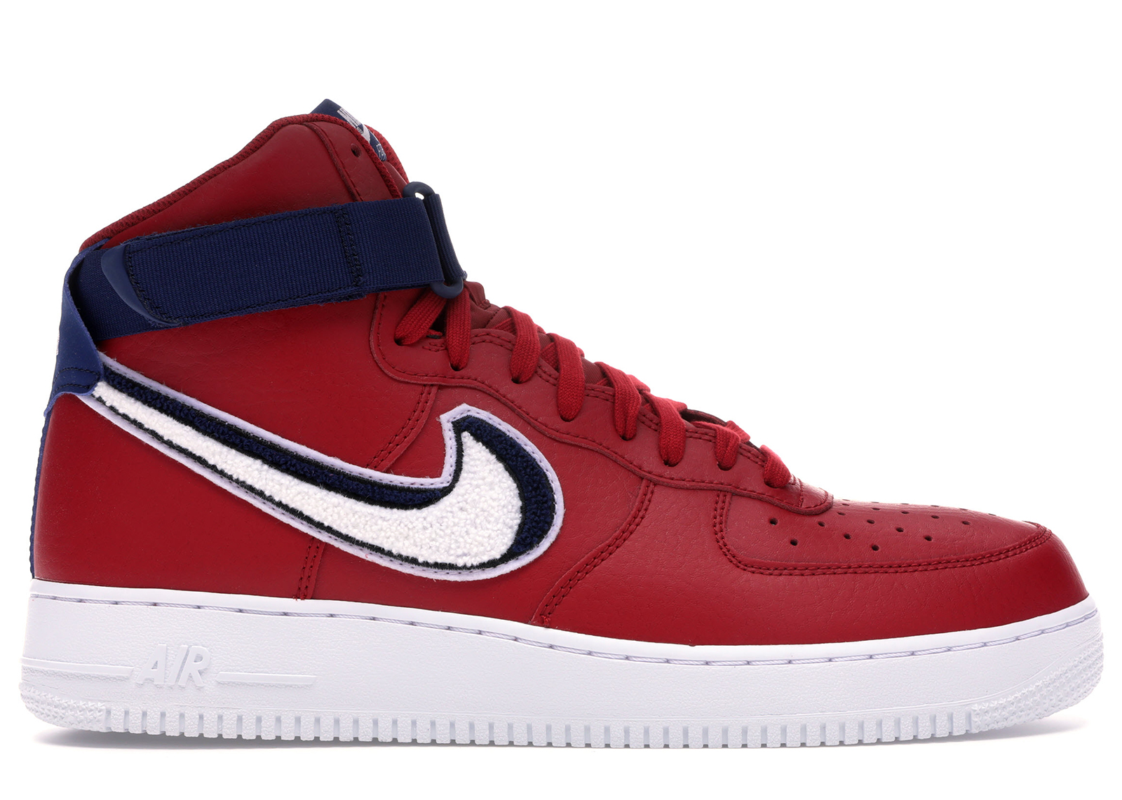 Nike Air Force 1 High 3D Chenille Swoosh Red White Blue - 806403-603