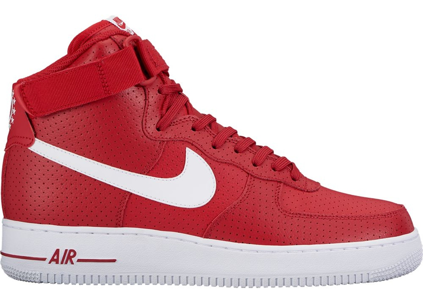 Nike Air Force 1 High Gym Red Perforated