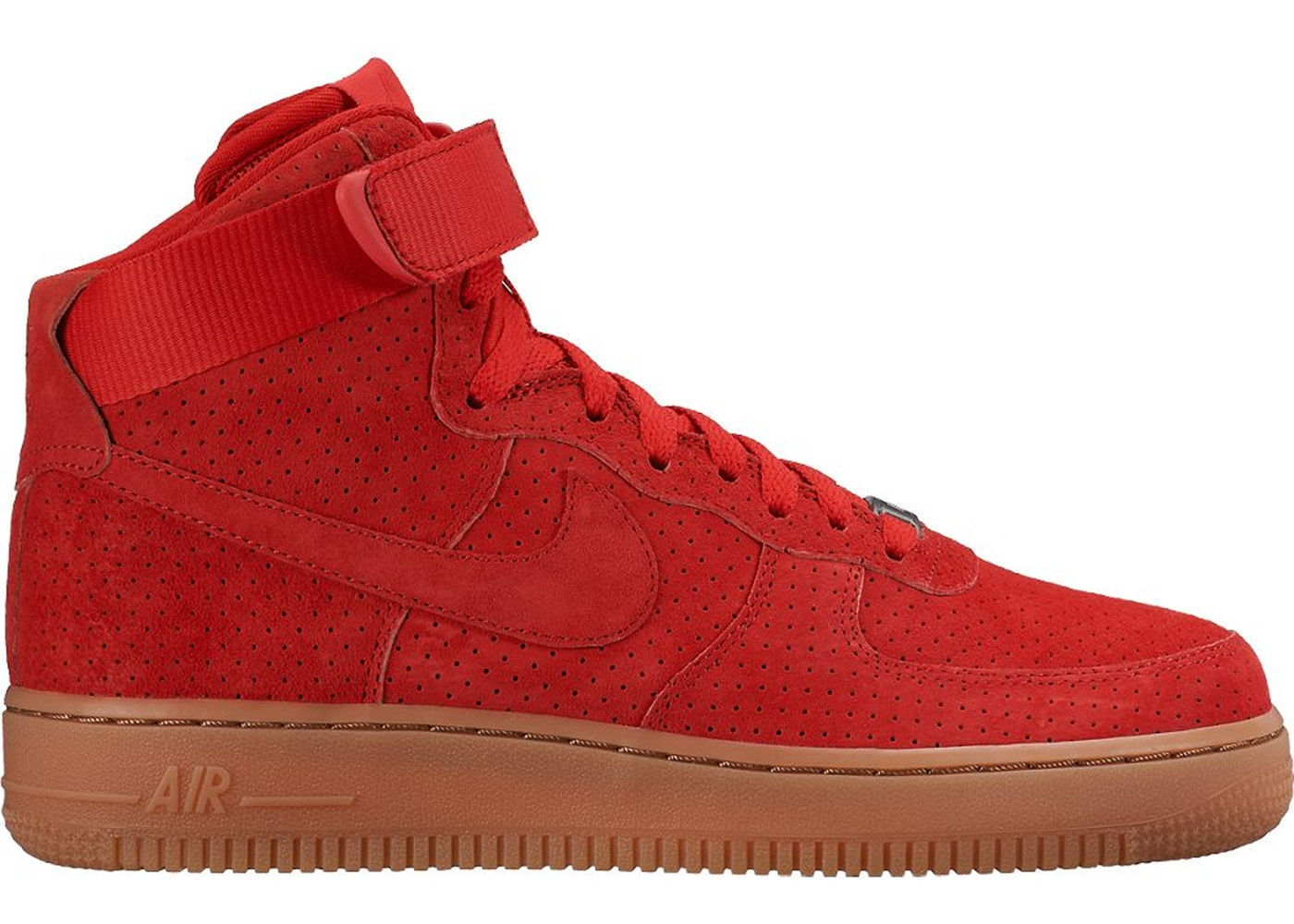 Nike Air Force 1 High Suede University Red Gum (W)