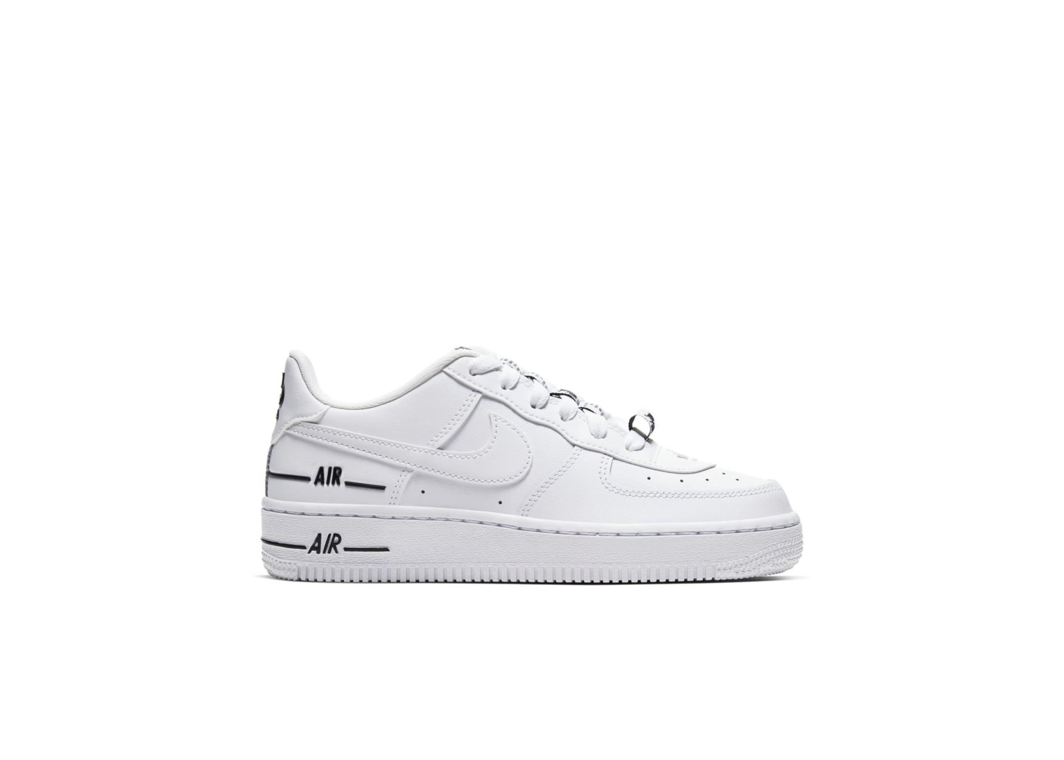Nike Air Force 1 LV8 3 White Black (GS) - CJ4092-100