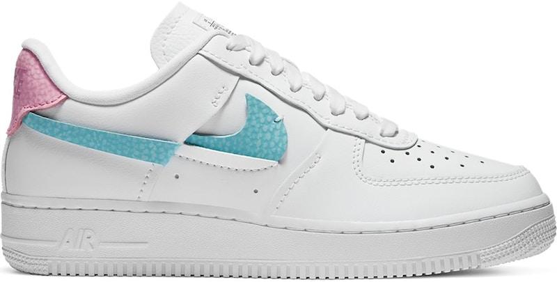 Nike Air Force 1 LXX White Pink Aqua (W)