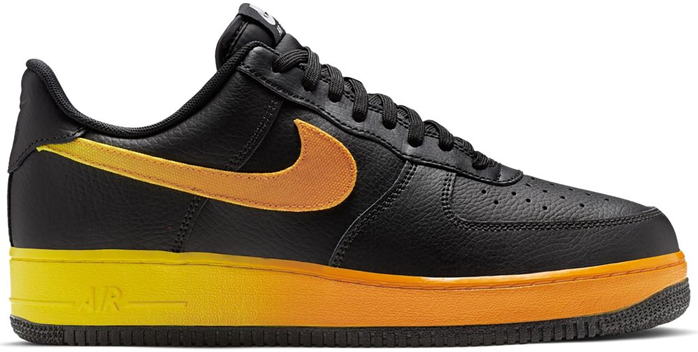 Nike Air Force 1 Low Black Yellow Orange Cj0524 001