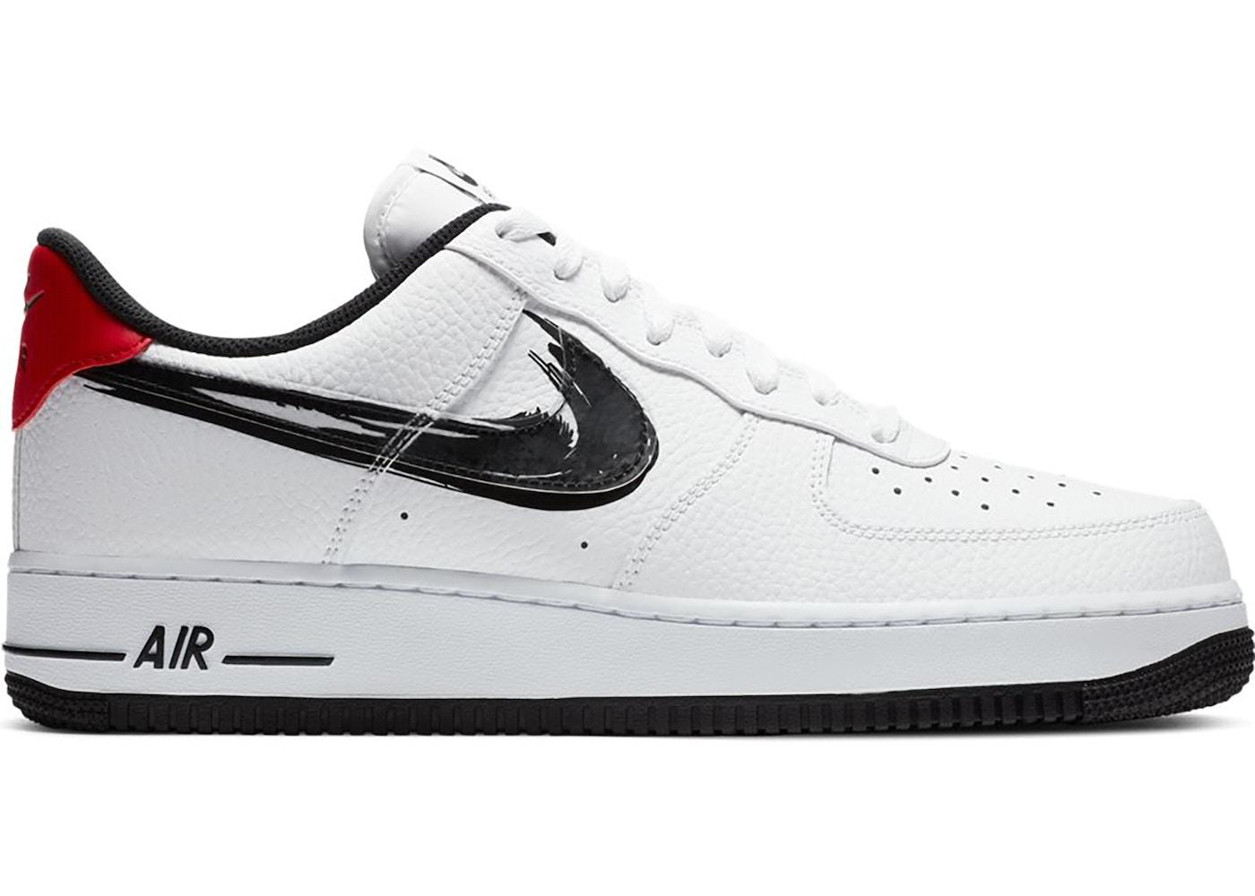 Nike Air Force 1 Low Brushstroke White Black