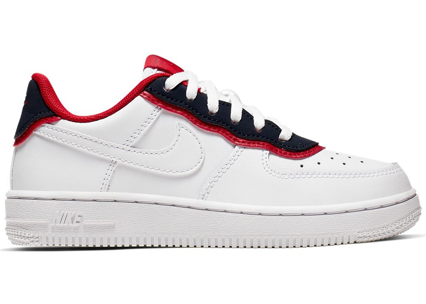 Nike Air Force 1 Low Double Layer White Obsidian Red (PS) - BV1085-101