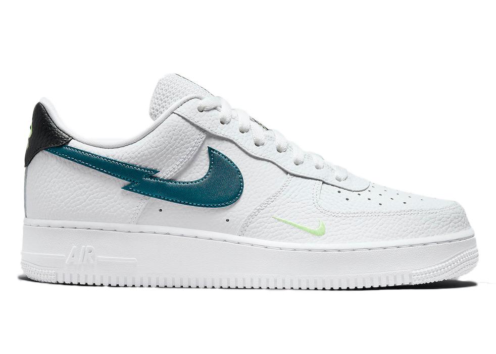 Nike Air Force 1 Low Split Swoosh White Aquamarine