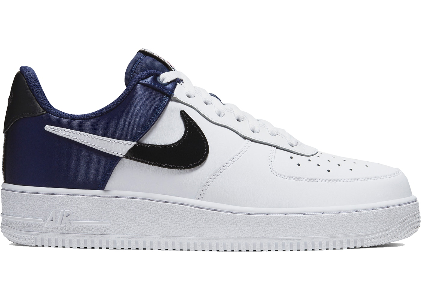Nike Air Force 1 Low NBA City Edition White Navy - Sneakers