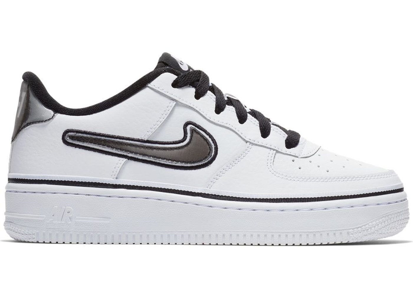 Nike Air Force 1 Low NBA White Black (GS)