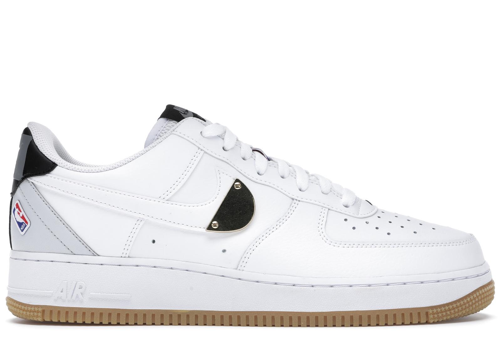 Nike Air Force 1 Low NBA White Grey Gum