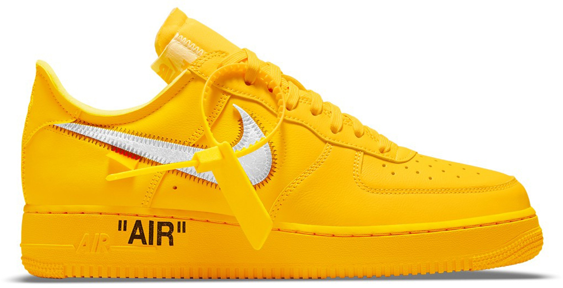 Nike Air Force 1 Low Off White University Gold Metallic Silver Dd1876 700