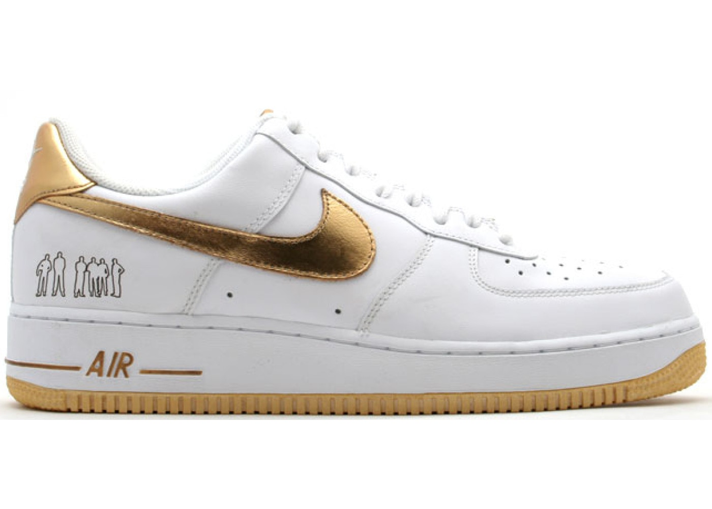 Nike Air Force 1 Low Players White Metallic Gold - 315092-171
