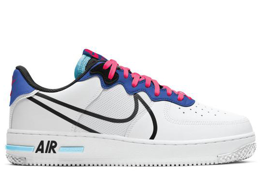 Nike Air Force 1 Low React White Astronomy Blue Laser Crimson