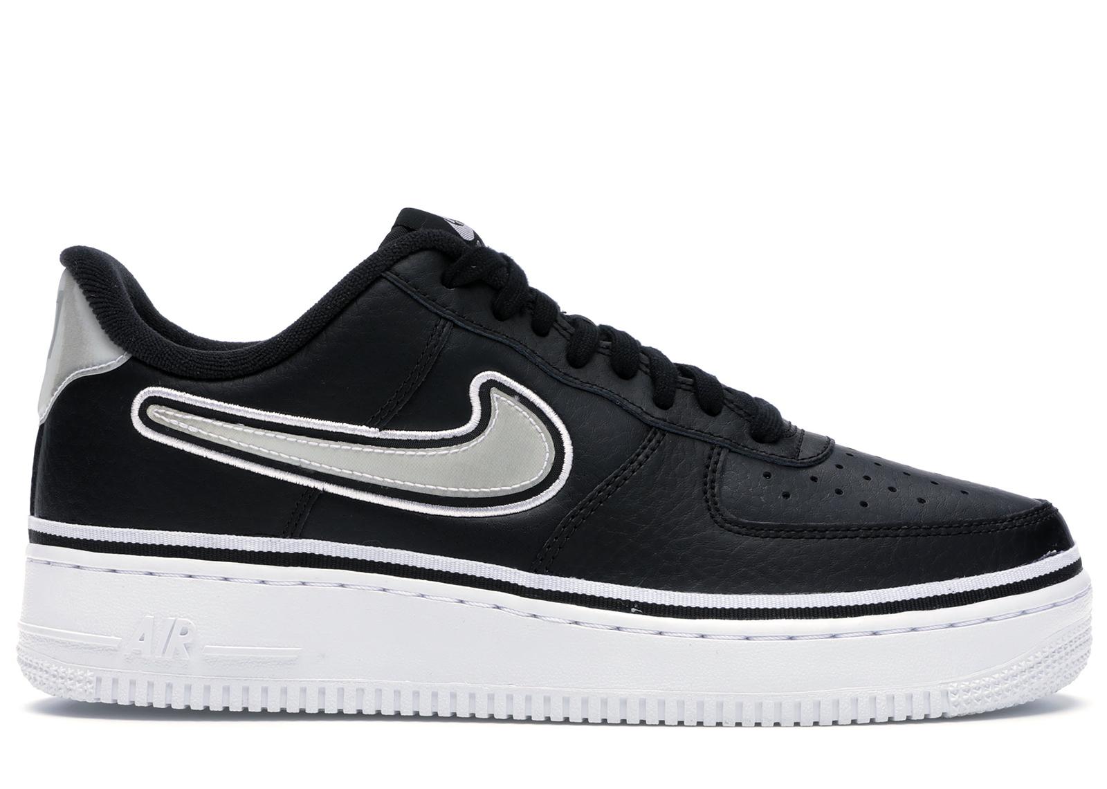 Nike Air Force 1 Low Sport NBA Black White - AJ7748-001
