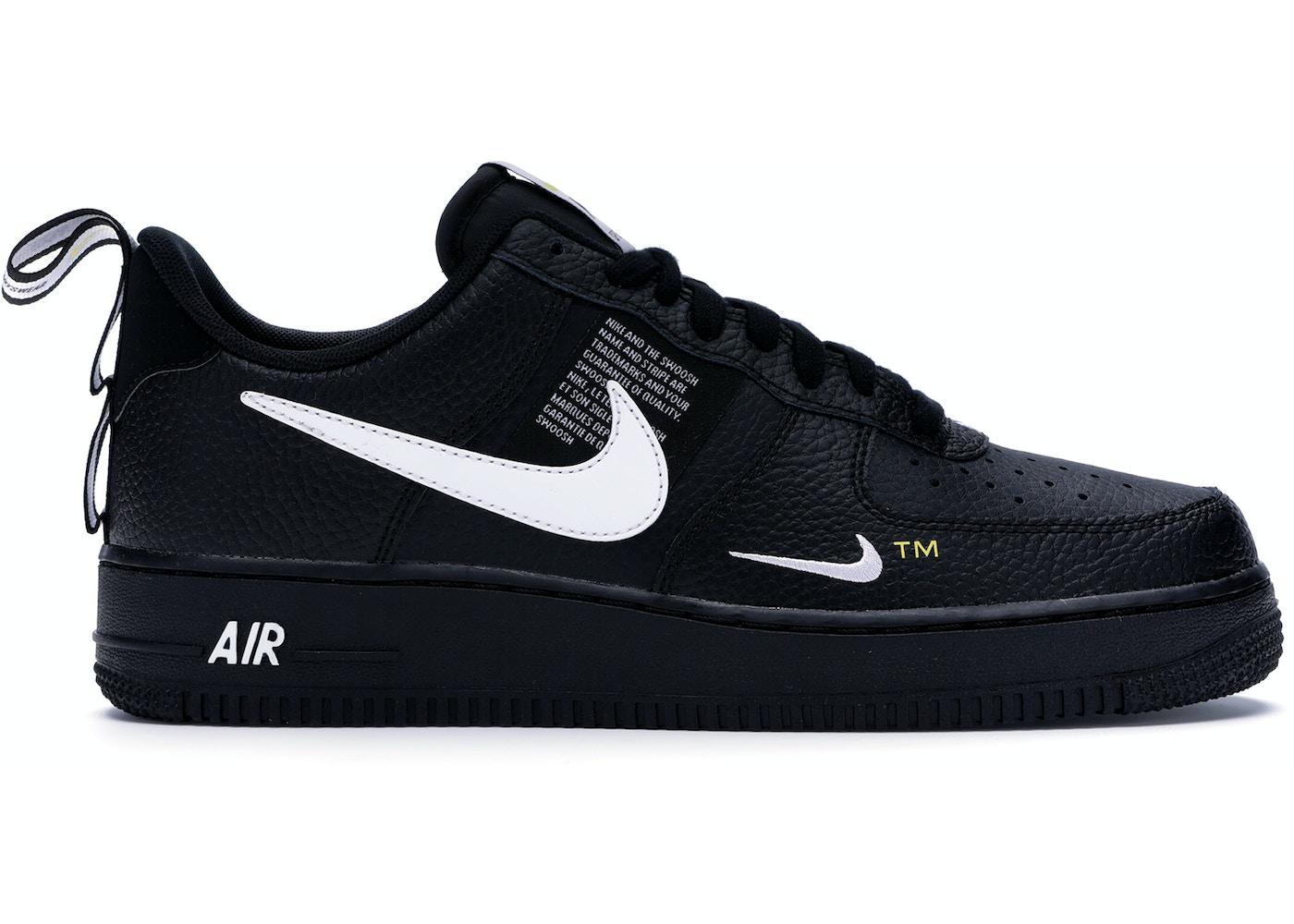 otoño brillante En detalle  Nike Air Force 1 Low Utility Black White - AJ7747-001