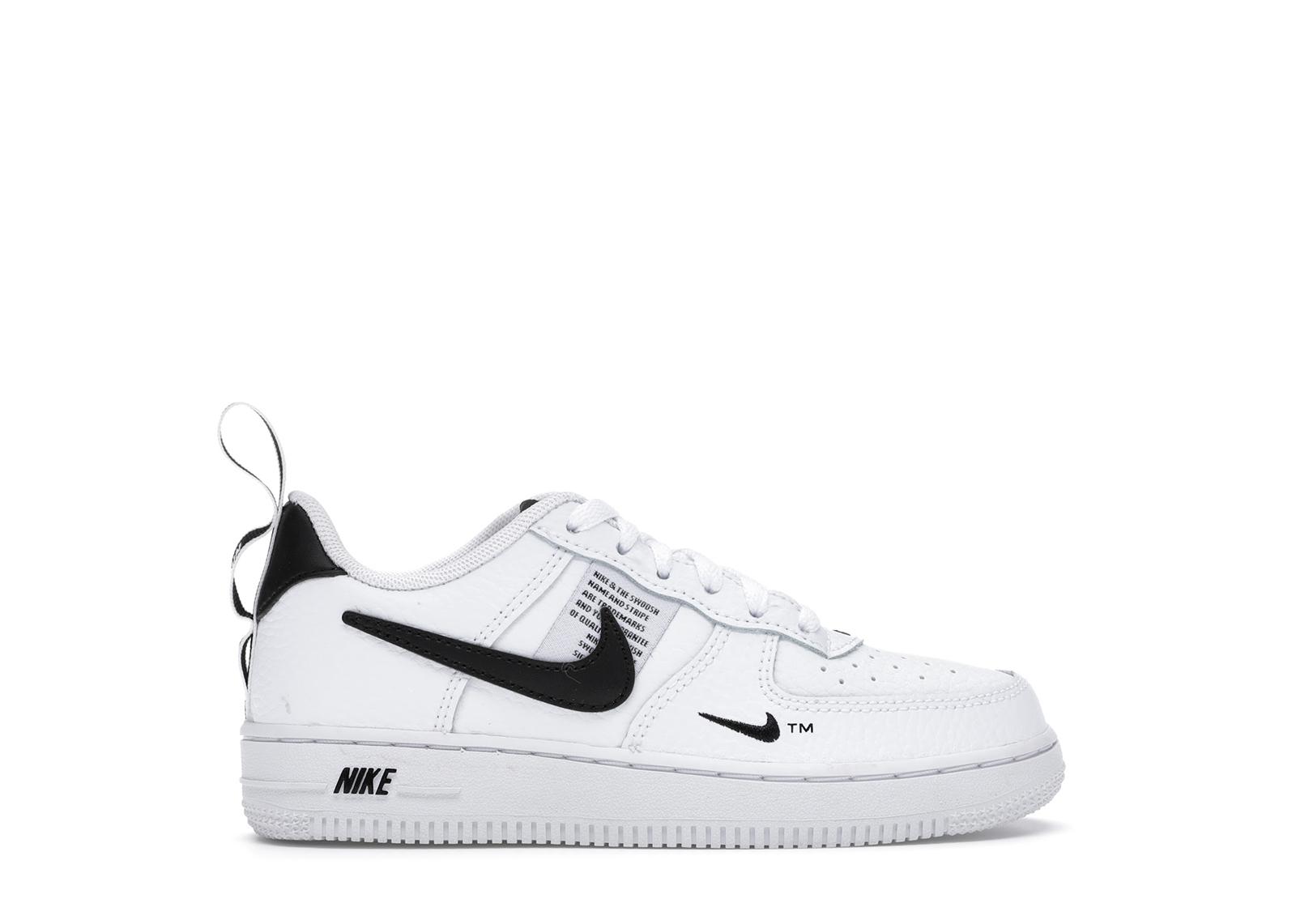 Nike Air Force 1 Low Utility White Black (PS) - AV4272-100