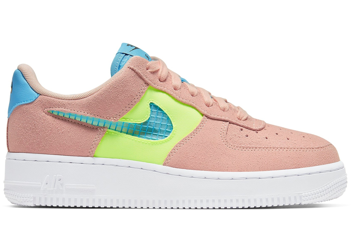 Nike Air Force 1 Low Washed Coral Ghost Green (W)