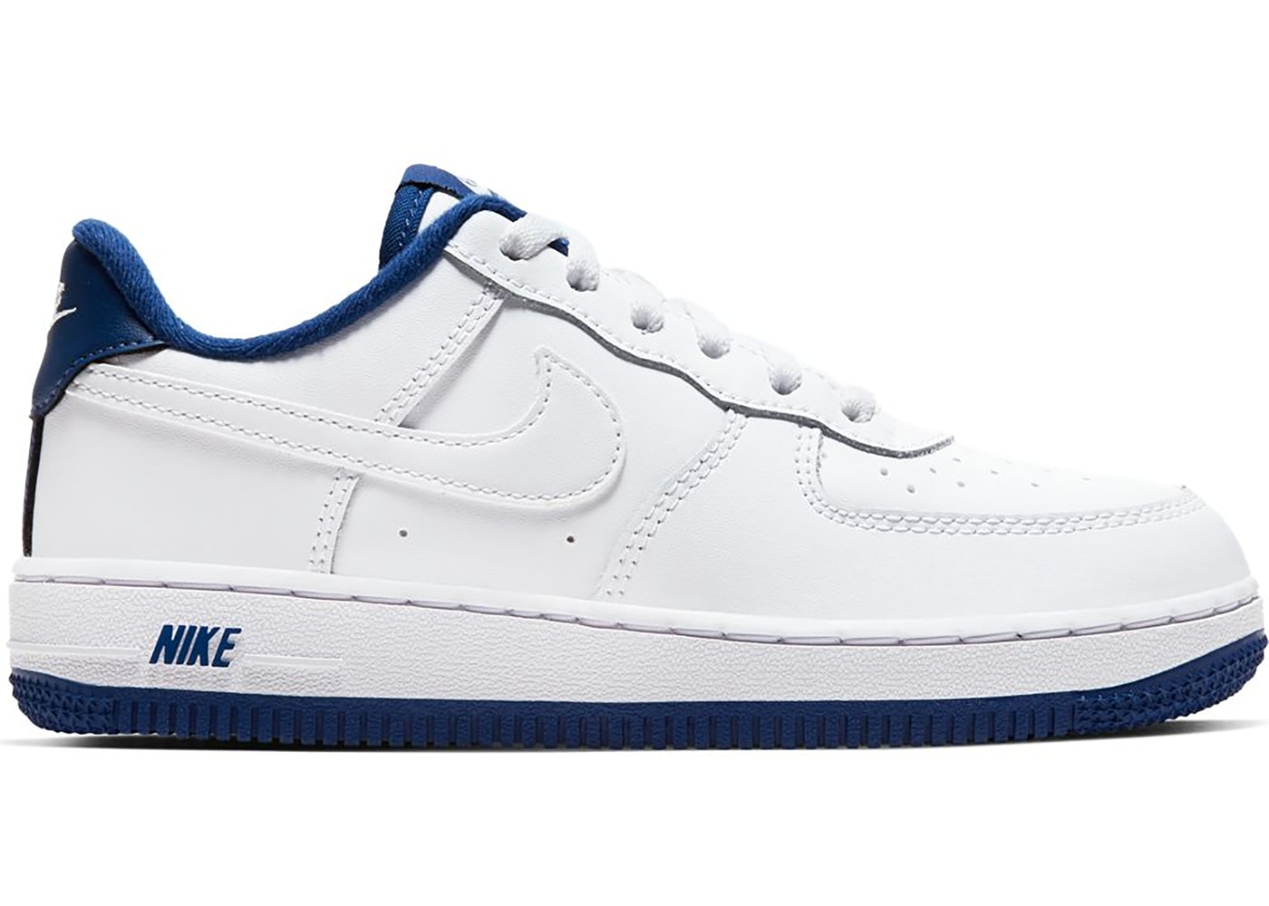 Nike Air Force 1 Low White Deep Royal Blue (PS)