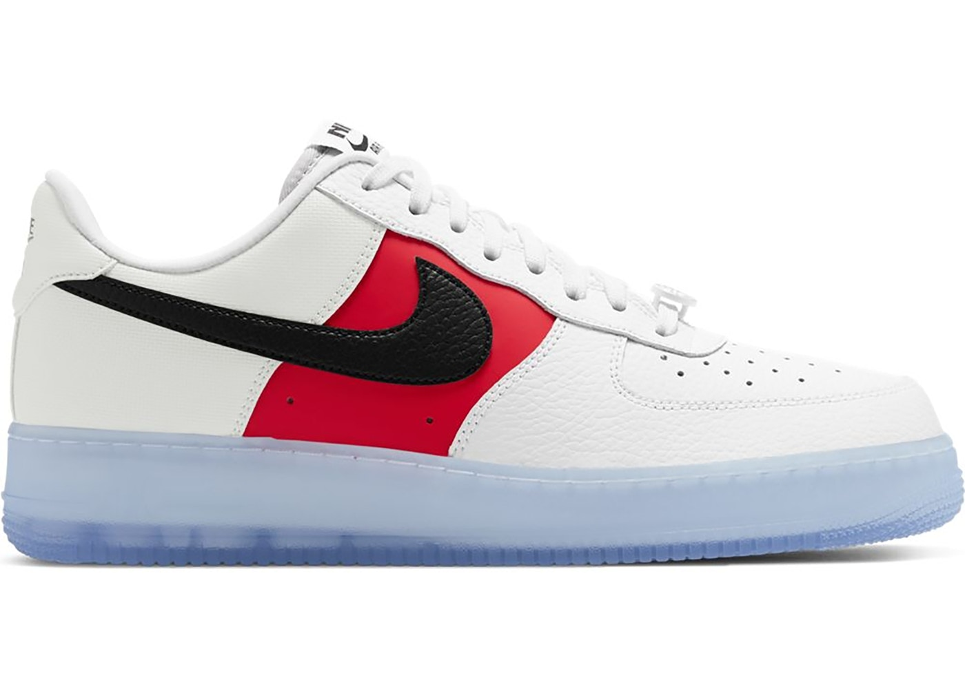 Amperio visto ropa Vaca  Nike Air Force 1 Low White Red Black (Icy Soles) - CT2295-110