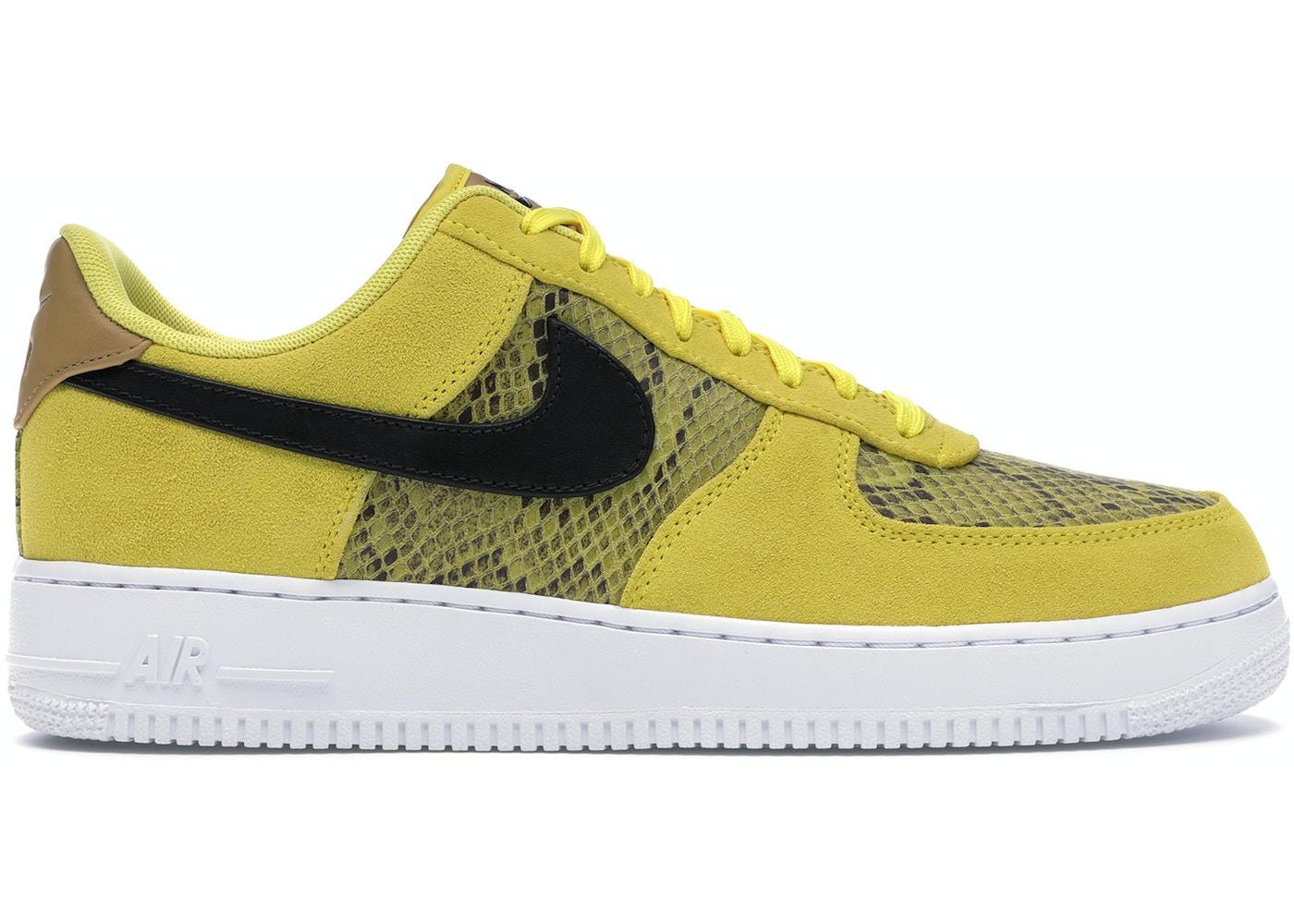 Nike Air Force 1 Low Yellow Snakeskin Bq4424 700